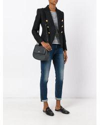 Kate Spade Black Saddle Shoulder Bag