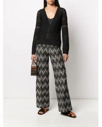 Pantaloni a gamba ampia di Missoni in Black