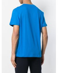 Moschino Blue Castle Print T-shirt for men