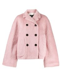 Double-breasted oversized jacket di Rochas in Pink