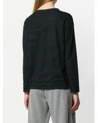 Fabiana Filippi Black Long-sleeve Draped Top