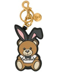 Moschino - Multicolor Playboy Ready To Bear Keyring - Lyst