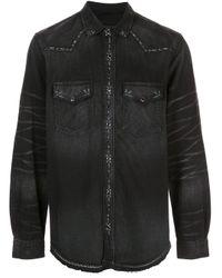 Amiri Black Studded Denim Shirt for men