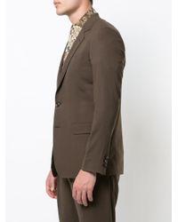 Blazer à boutonnière sur le devant Julien David pour homme en coloris Brown