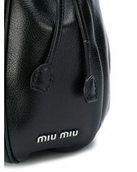 Miu Miu ビジュー ショルダーバッグ Black