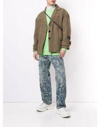 we11done Brown Check Wool Jacket