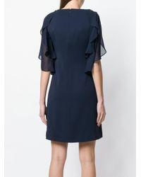 Blumarine Blue V-neck Dress