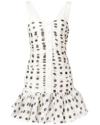 Zimmermann Multicolor Polka Dot Mini Dress