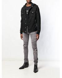 Jean skinny à détails nervurés Balmain pour homme en coloris Gray