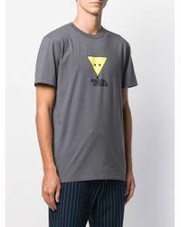 メンズ Maison Kitsuné ロゴ Tシャツ Gray