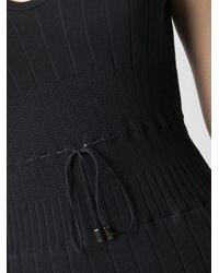 Twin Set フローラル ショートスリーブ ドレス Black