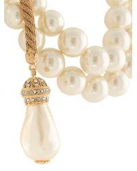 Collier à détails de perles artificielles Dolce & Gabbana en coloris White