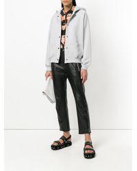 KENZO - Gray Hooded Sweat Jacket - Lyst