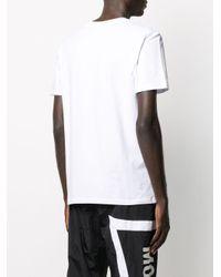 メンズ Moschino ロゴ Tシャツ White