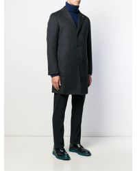 Cappotto monopetto di Tagliatore in Black da Uomo