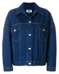 MM6 by Maison Martin Margiela Blue Oversized Jacket