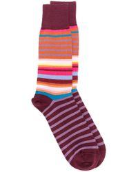 Paul Smith Pink Striped Socks for men