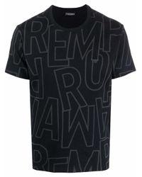 メンズ Emporio Armani ロゴ Tシャツ Black