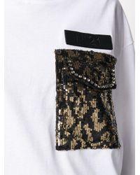 N°21 スパンコール Tシャツ White