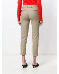 Piazza Sempione Natural Slim Cropped Trousers