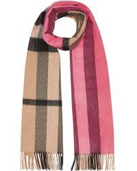 Burberry カラーブロック カシミアスカーフ Multicolor