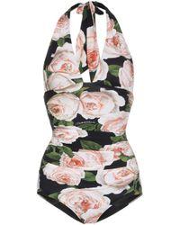 Costume intero Rose di Dolce & Gabbana in Multicolor