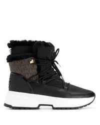 MICHAEL Michael Kors Black Lace-up Ankle Boots