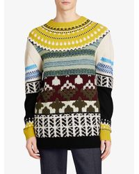 Burberry - Multicolor Fair Isle Multi-knit Sweater - Lyst