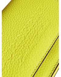 Burberry - Yellow Embossed Chain Wallet - Lyst