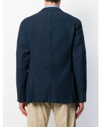 メンズ Boglioli シングルジャケット Blue