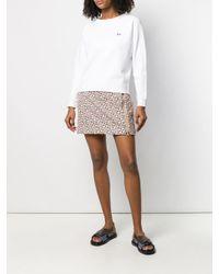 Maison Kitsuné White Sweatshirt mit Fuchs-Patch