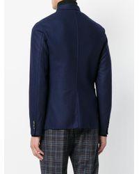 Barena Blue Patch Pocket Jacket for men