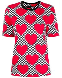 Love Moschino ハートプリント Tシャツ Red