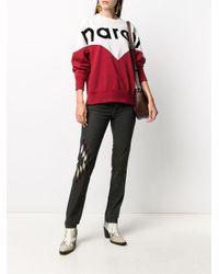 Étoile Isabel Marant カラーブロック スウェットシャツ Red