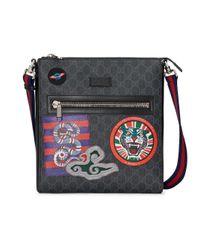 Сумка-мессенджер 'night Courrier' С Узором GG Supreme Gucci для него, цвет: Multicolor