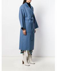 Essentiel Antwerp Truffles ベルテッドコート Blue