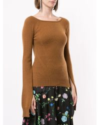 Top con spacco sulle maniche di N°21 in Brown