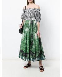 Etro - Green Signature Printed Skirt - Lyst