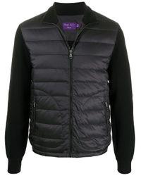 メンズ Ralph Lauren Purple Label パデッドジャケット Black