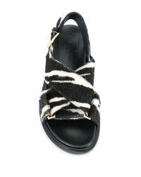 Marni Black Sandalen mit Print
