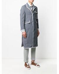 Thom Browne Mantel mit Logo-Streifen in Gray für Herren