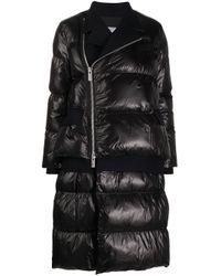Oversized puffer jacket Sacai de color Black