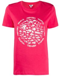 KENZO プリント Tシャツ Pink