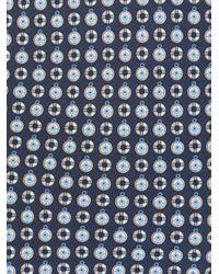 Галстук С Геометричным Принтом Ferragamo для него, цвет: Blue