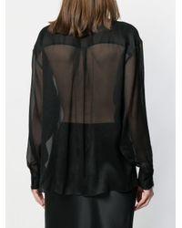 Blusa semi trasparente di Nina Ricci in Black