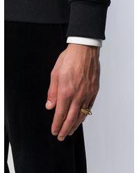 Alexander McQueen - Metallic Crowned Skull Statement Ring for Men - Lyst