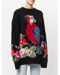 Joseph Black Flower Parrot Jumper