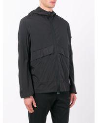 Satisfy Black Lightweight Hooded Jacket for men