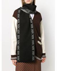 Bufanda de punto con logo MICHAEL Michael Kors de color Black