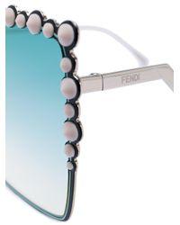 Fendi - Metallic Occhiali Da Sole Decorati - Lyst
